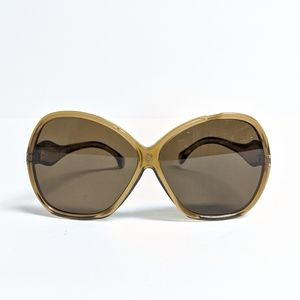 Vintage 1970s Extra Large Lens Brown Sunglasses